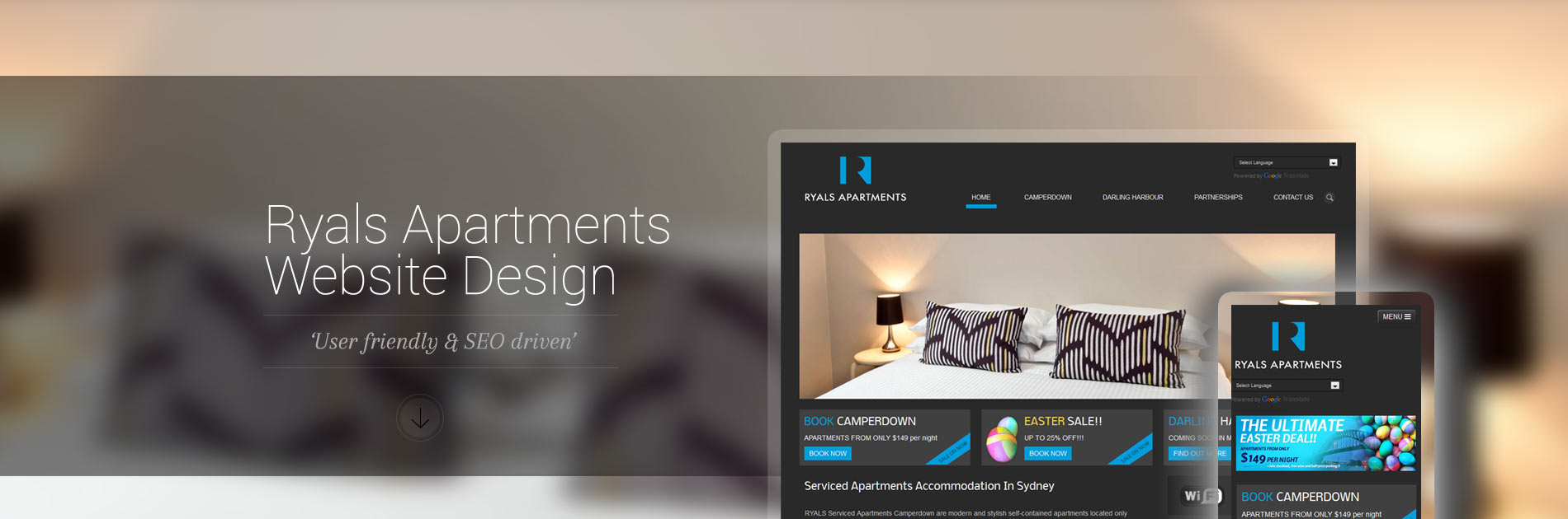 web design ryals apartments sydney - Apartment Website Design